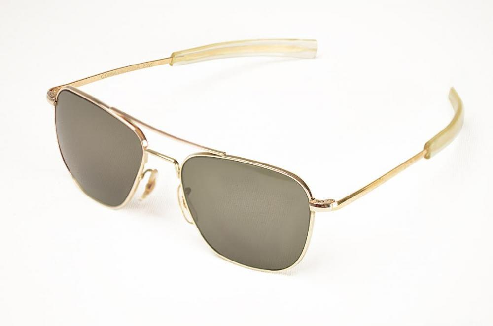 90d8f730b7f Vintage Αmerican Optical - Command OP52G2 Gold 23K Pilot™ - Eyestore